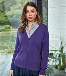 PREMIER LADIES BUTTON KNITTED CARDIGAN