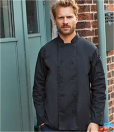 PREMIER CHEFS LONG SLEEVE COOLCHECKER JACKET WITH MESH BACK PANEL