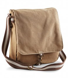 QUADRA BAGS VINTAGE CANVAS MESSENGER