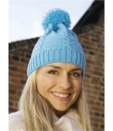 Result Cable Knit Pom Pom Beanie