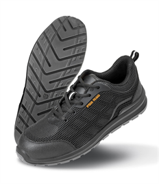 WORK-GUARD by Result Unisex All Black Safety Trainer