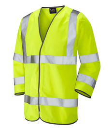 LEO WORKWEAR FORCHES ISO 20471 Cl 3 3/4 Sleeve Waistcoat