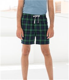 SKINNI FIT MENS TARTAN LOUNGE SHORTS