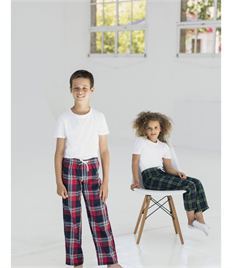 SKINNI FIT KIDS TARTAN LOUNGE PANT