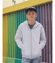FRUIT OF THE LOOM KIDS PREMIUM HOODED SWEAT JACKET