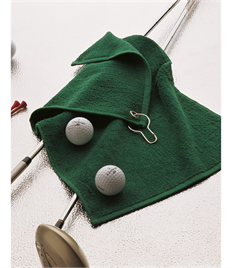 TOWEL CITY MEDIUM GOLF TOWEL WITH HOOK