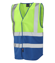 LEO WORKWEAR PILTON Coloured Reflective Waistcoat