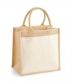 WESTFORD MILL COTTON POCKET JUTE MIDI TOTE