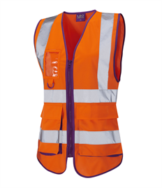 LEO WORKWEAR LYNMOUTH ISO 20471 Class 2 Superior Ladies Waistcoat