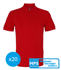 20 x 100% Cotton Polo Shirts (more colours available!)